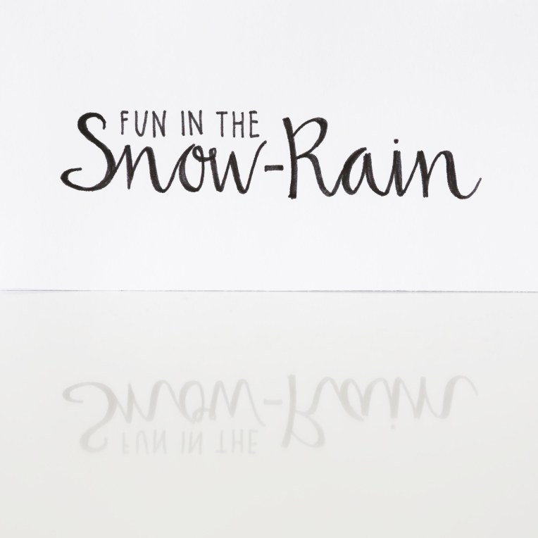 Fun in the snowrain
