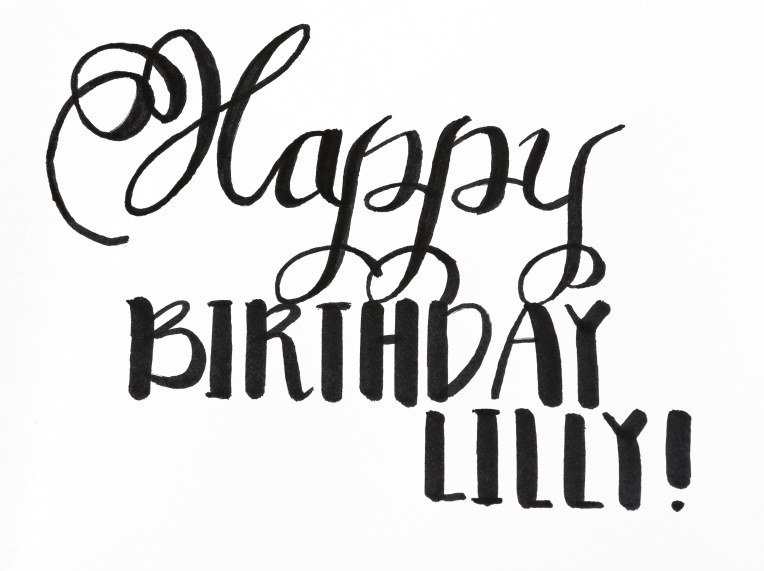 Happy Birthday Lilly